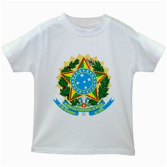 Coat of Arms of Brazil, 1968-1971 Kids White T-Shirts