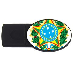 Coat of Arms of Brazil, 1968-1971 USB Flash Drive Oval (2 GB)