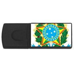 Coat of Arms of Brazil, 1968-1971 USB Flash Drive Rectangular (2 GB)