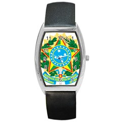 Coat of Arms of Brazil, 1968-1971 Barrel Style Metal Watch
