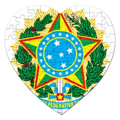 Coat of Arms of Brazil, 1968-1971 Jigsaw Puzzle (Heart)