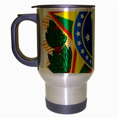 Coat of Arms of Brazil, 1968-1971 Travel Mug (Silver Gray)