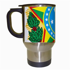 Coat of Arms of Brazil, 1968-1971 Travel Mugs (White)