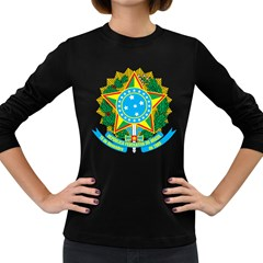 Coat of Arms of Brazil, 1968-1971 Women s Long Sleeve Dark T-Shirts