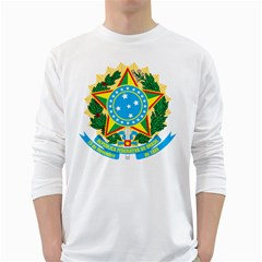 Coat of Arms of Brazil, 1968-1971 White Long Sleeve T-Shirts
