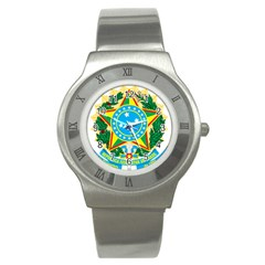 Coat of Arms of Brazil, 1968-1971 Stainless Steel Watch