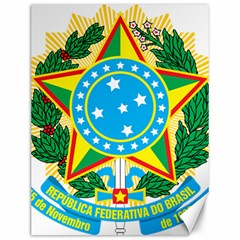 Coat of Arms of Brazil, 1968-1971 Canvas 12  x 16