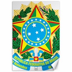 Coat of Arms of Brazil, 1968-1971 Canvas 12  x 18