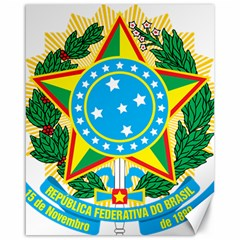 Coat of Arms of Brazil, 1968-1971 Canvas 16  x 20