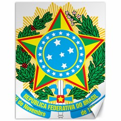 Coat of Arms of Brazil, 1968-1971 Canvas 18  x 24