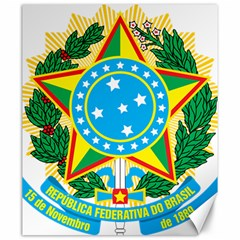 Coat of Arms of Brazil, 1968-1971 Canvas 20  x 24