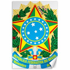 Coat of Arms of Brazil, 1968-1971 Canvas 24  x 36