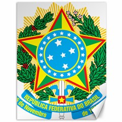 Coat of Arms of Brazil, 1968-1971 Canvas 36  x 48