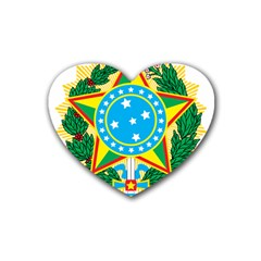 Coat of Arms of Brazil, 1968-1971 Heart Coaster (4 pack)