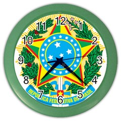 Coat of Arms of Brazil, 1968-1971 Color Wall Clocks