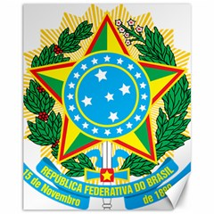 Coat of Arms of Brazil, 1968-1971 Canvas 11  x 14