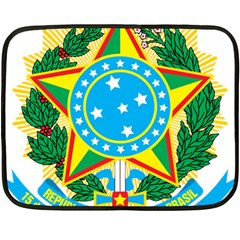 Coat of Arms of Brazil, 1968-1971 Double Sided Fleece Blanket (Mini)
