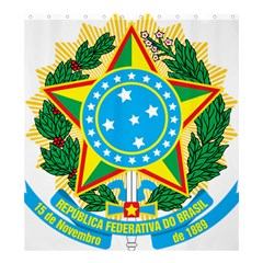 Coat of Arms of Brazil, 1968-1971 Shower Curtain 66  x 72  (Large)
