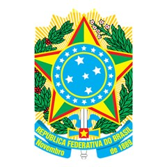 Coat of Arms of Brazil, 1968-1971 Shower Curtain 48  x 72  (Small)
