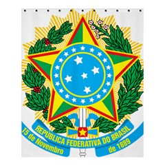 Coat of Arms of Brazil, 1968-1971 Shower Curtain 60  x 72  (Medium)