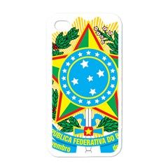 Coat of Arms of Brazil, 1968-1971 Apple iPhone 4 Case (White)
