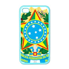 Coat of Arms of Brazil, 1968-1971 Apple iPhone 4 Case (Color)