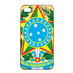 Coat of Arms of Brazil, 1968-1971 Apple iPhone 4/4s Seamless Case (Black)