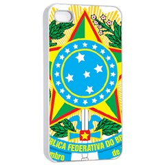 Coat of Arms of Brazil, 1968-1971 Apple iPhone 4/4s Seamless Case (White)