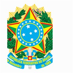 Coat of Arms of Brazil, 1968-1971 Small Garden Flag (Two Sides)