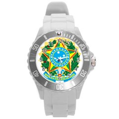 Coat of Arms of Brazil, 1968-1971 Round Plastic Sport Watch (L)