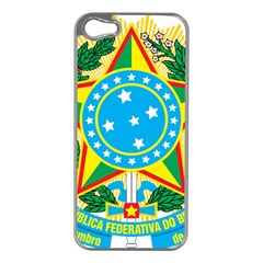 Coat of Arms of Brazil, 1968-1971 Apple iPhone 5 Case (Silver)