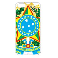 Coat of Arms of Brazil, 1968-1971 Apple iPhone 5 Seamless Case (White)