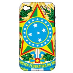 Coat of Arms of Brazil, 1968-1971 Apple iPhone 4/4S Hardshell Case (PC+Silicone)