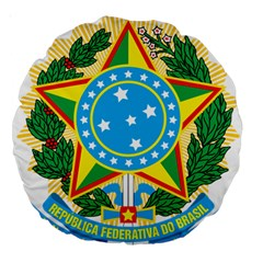 Coat of Arms of Brazil, 1968-1971 Large 18  Premium Round Cushions