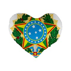 Coat of Arms of Brazil, 1968-1971 Standard 16  Premium Heart Shape Cushions