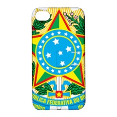 Coat of Arms of Brazil, 1968-1971 Apple iPhone 4/4S Hardshell Case with Stand