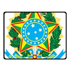 Coat of Arms of Brazil, 1968-1971 Double Sided Fleece Blanket (Small)