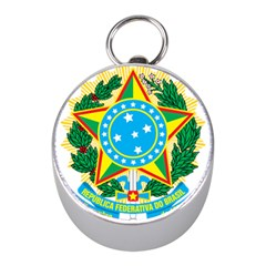 Coat of Arms of Brazil, 1968-1971 Mini Silver Compasses
