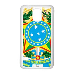 Coat of Arms of Brazil, 1968-1971 Samsung Galaxy S5 Case (White)