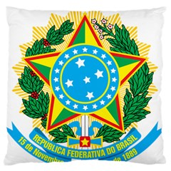 Coat of Arms of Brazil, 1968-1971 Large Flano Cushion Case (Two Sides)