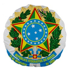 Coat of Arms of Brazil, 1968-1971 Large 18  Premium Flano Round Cushions