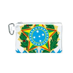 Coat of Arms of Brazil, 1968-1971 Canvas Cosmetic Bag (S)