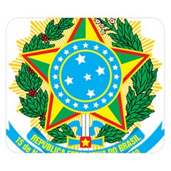 Coat of Arms of Brazil, 1968-1971 Double Sided Flano Blanket (Small)