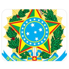 Coat of Arms of Brazil, 1968-1971 Double Sided Flano Blanket (Medium)