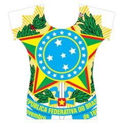 Coat of Arms of Brazil, 1968-1971 Women s Cap Sleeve Top