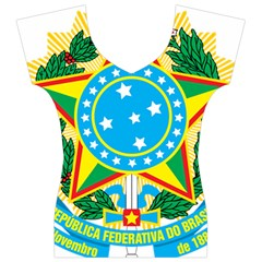 Coat of Arms of Brazil, 1968-1971 Women s V-Neck Cap Sleeve Top