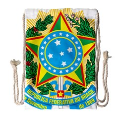 Coat of Arms of Brazil, 1968-1971 Drawstring Bag (Large)