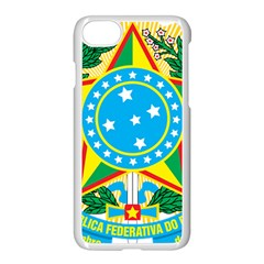 Coat of Arms of Brazil, 1968-1971 Apple iPhone 7 Seamless Case (White)