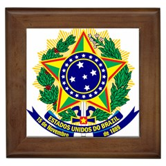 Coat of Arms of Brazil Framed Tiles