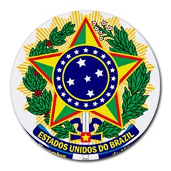 Coat of Arms of Brazil Round Mousepads
